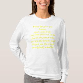 Camiseta Quando a vida lhe der limões (os instrumentos