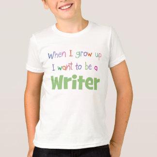 Camiseta Quando eu crescer acima o escritor