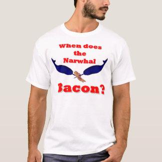 Camiseta Quando faz o bacon de Narwhal?