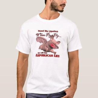 Camiseta Quando os porcos voam… assim que as mentiras