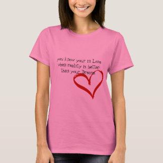 Camiseta quando seu ame dentro