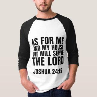 Camiseta QUANTO PARA a MIM & a MEUS t-shirt do cristão da