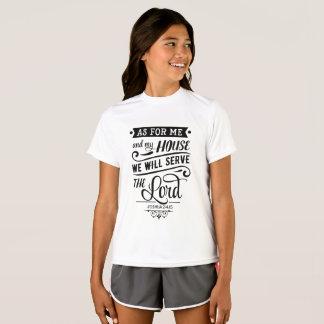 Camiseta Quanto para a mim e a minha casa nós serviremos o