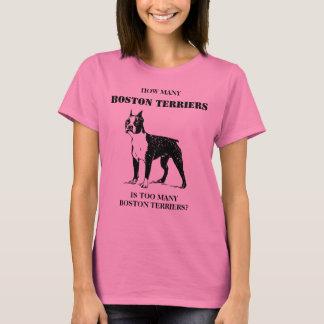 Camiseta Quantos terrier de Boston são demasiados