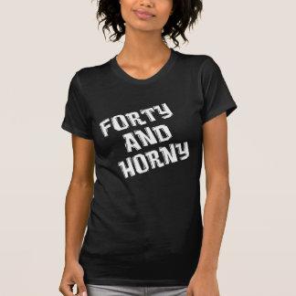 Camiseta Quarenta e aniversário de 40 anos Horny