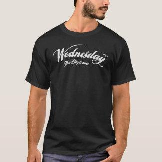 Camiseta Quarta-feira a cidade é nossa - leve branco da