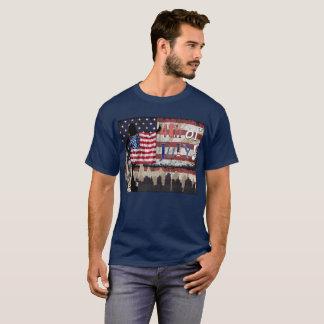 Camiseta Quarto da colagem de julho (patriótica)