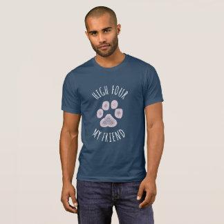 Camiseta Quatro altos meu cão engraçado do amigo