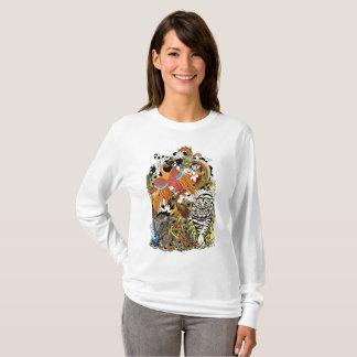 Camiseta quatro animais celestiais