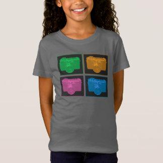 Camiseta Quatro câmeras do pop art