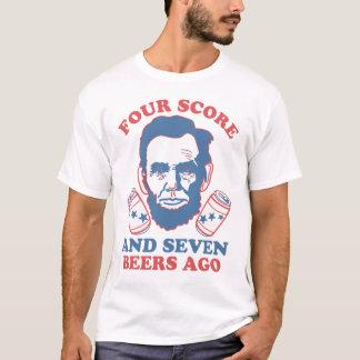 Camiseta Quatro contagens e sete cervejas há
