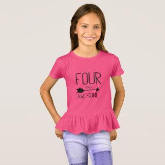 Camiseta Quatro e 4o presente de aniversário impressionante