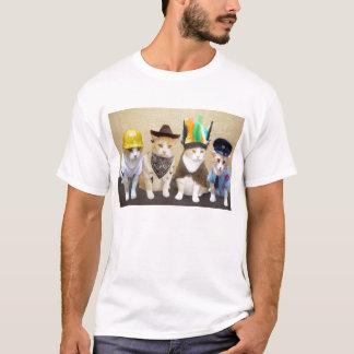 Camiseta Quatro gatos engraçados