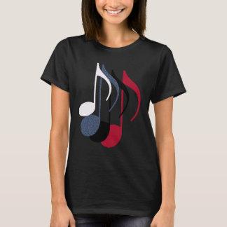 Camiseta quatro notas da música