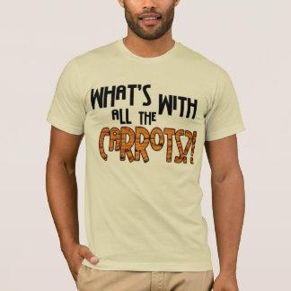 Camiseta Que é com todas as cenouras?