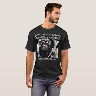 Camiseta Que é o biscoito favorito de um gorila?