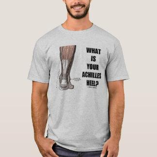 Camiseta Que é seu salto de Achilles? (Anatomia do salto)
