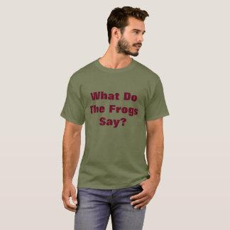 Camiseta Que fazem os sapos dizem?