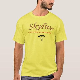 Camiseta Que hesita herdará a terra (skydive)