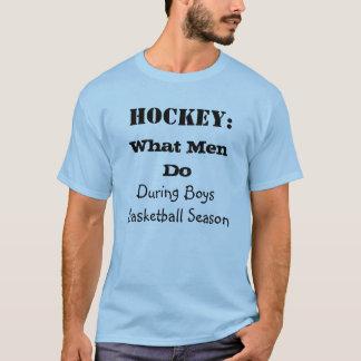 Camiseta Que homens fazem durante o t-shirt da estação de