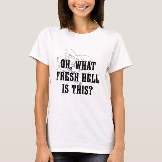 Camiseta Que inferno fresco é este? - Presente do humor