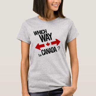 Camiseta Que maneira a Canadá -- - - Político -