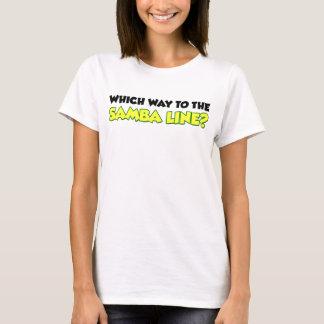 Camiseta Que maneira à linha da samba