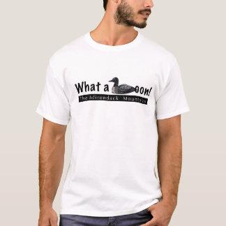 Camiseta Que montanhas de Adirondack do mergulhão-do-norte