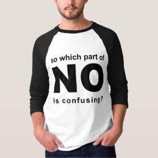 Camiseta Que parte do nenhum é desconcertante?