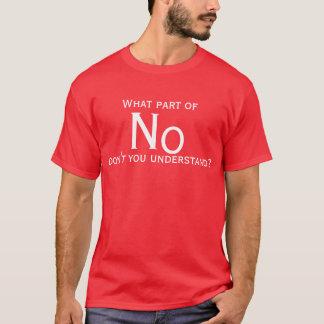 Camiseta Que parte do nenhum você não compreende?