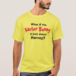 Camiseta Que se, o coelhinho da Páscoa, é apenas Jesus',