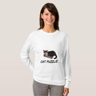 Camiseta Quebra-cabeça do gato 1000 partes