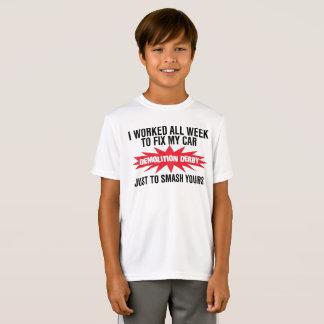 Camiseta Quebra de Derby da demolição seu carro