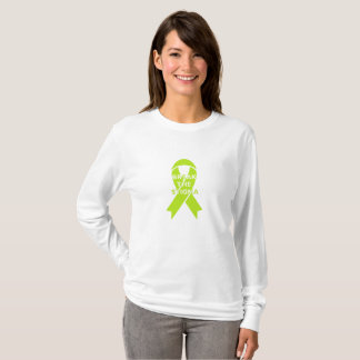 Camiseta Quebre o estigma - a luva longa das mulheres