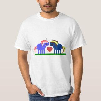 Camiseta Queda bonito dos unicórnios no amor