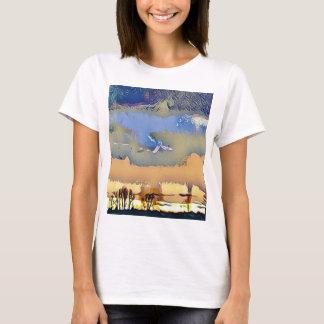 Camiseta Queda clara colorida céu abstrato tonificado do