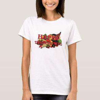 Camiseta Queda feliz do Cornucopia da colheita do outono da