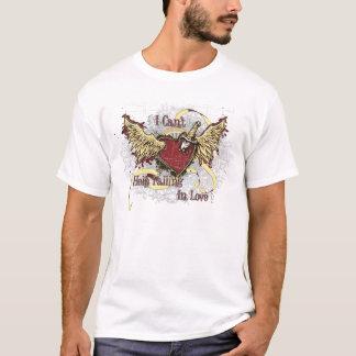 Camiseta Queda no t-shirt Stabbed amor do coração