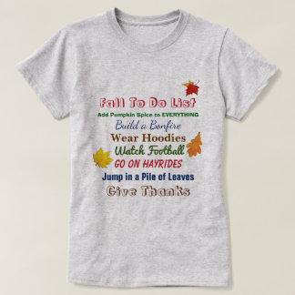 Camiseta Queda para fazer o t-shirt das mulheres da lista