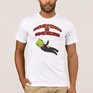 Camiseta Queda para fora t-shirt GamingGeckos das janelas