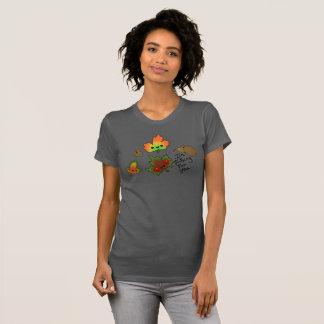 Camiseta Queda para você grupo de T das folhas