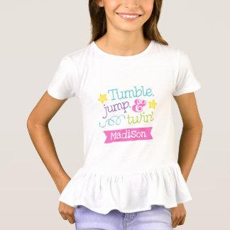 Camiseta Queda, salto e de ginástica/de caída do Twirl