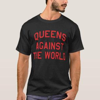Camiseta Queens contra o mundo - impressão vermelho II