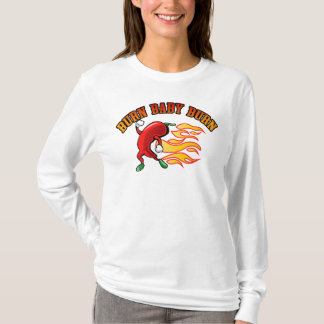 Camiseta Queimadura do bebê da queimadura