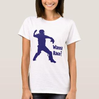 Camiseta Queira competir, azul