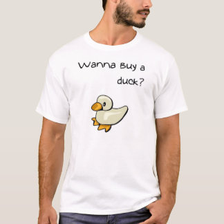 Camiseta Queira comprar um pato?