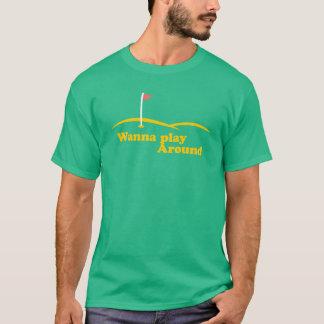 Camiseta queira jogar ao redor