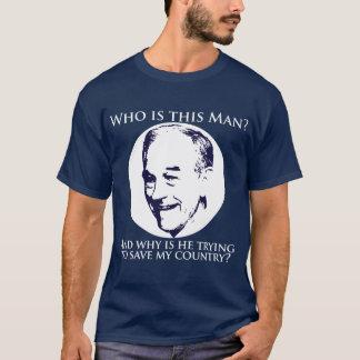 """Camiseta """"Quem é este homem?""""  Ron Paul para o presidente"""
