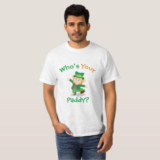 Camiseta Quem é seu t-shirt irlandês da almofada |