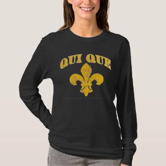 Camiseta Quem flor de lis francesa T de Dat